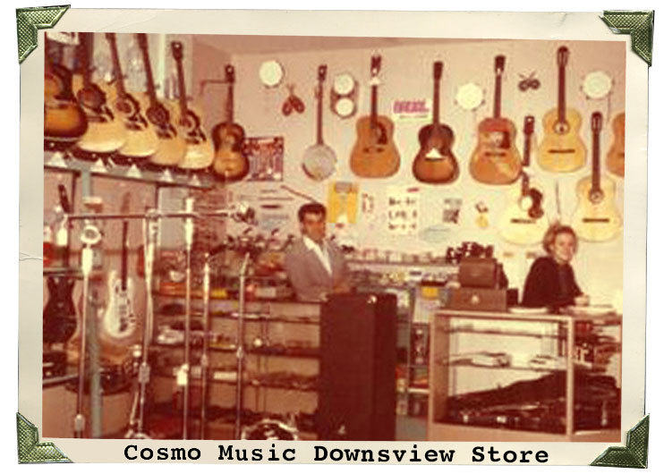 Cosmo Music Store 1968 - Sheppard Avenue Downsview