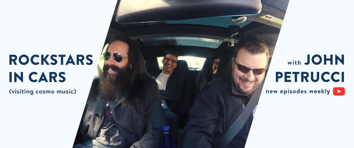 Rockstars In Cars (visiting Cosmo Music) with John Petrucci