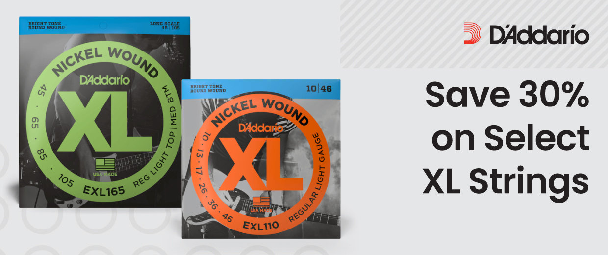 Save 30% on Select D'Addario XL Strings