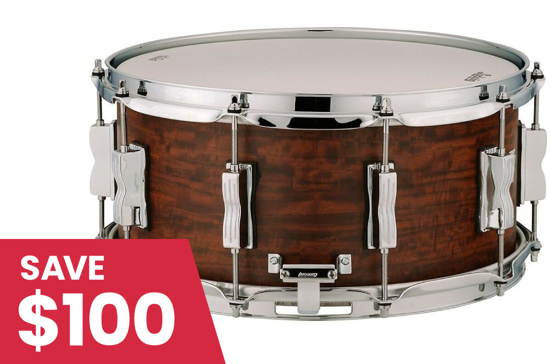 """Cosmo Music Price Shredder - Ludwig Standard Maple Snare Drum - 6-1/2""""x14"""", Aged Chestnut"""