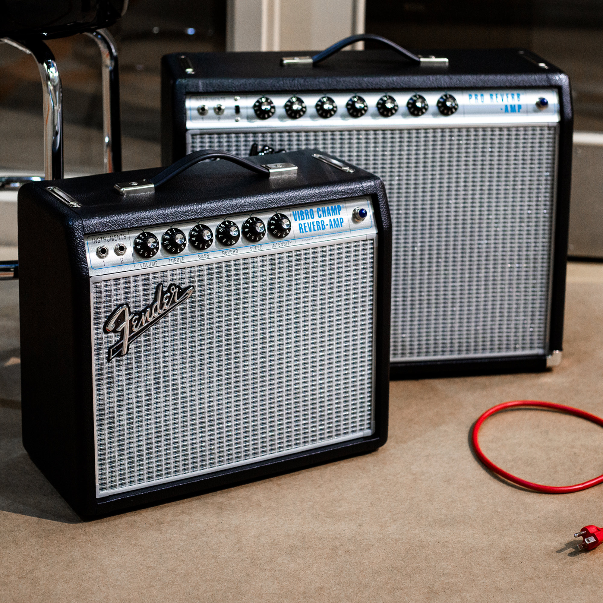 Fender Pro Reverb and Vibro Champ Reverb Amps