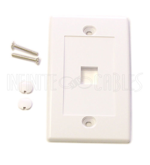 View larger image of 1 Port Plate: Cat5E Keystone White: WP-1P-WH