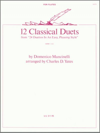View larger image of 12 Classical Duets, Mancinelli (Flute Duet)