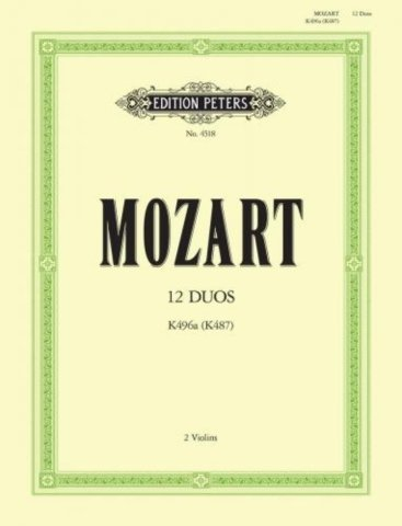 View larger image of 12 Duos K496a/K487 (Mozart) - Violin Duet