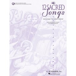 12 Sacred Songs - Low Voice w/Online Audio