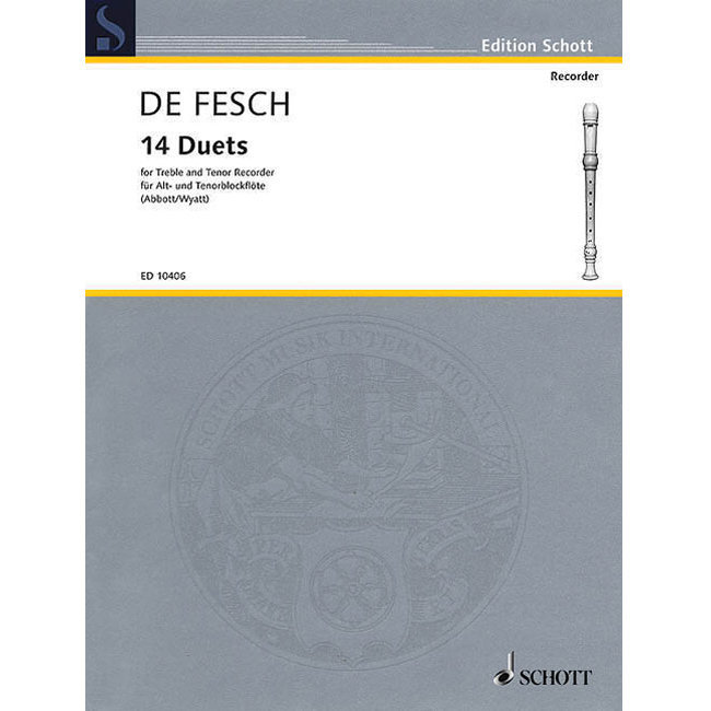 View larger image of 14 Duets for Alto & Tenor Recorders
