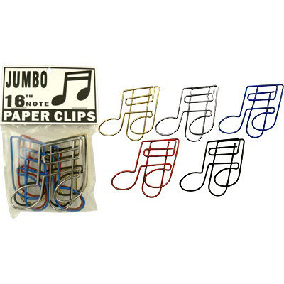View larger image of 16th Note Giant Paper Clip - 5 Pack