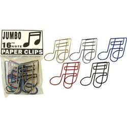 16th Note Giant Paper Clip - 5 Pack