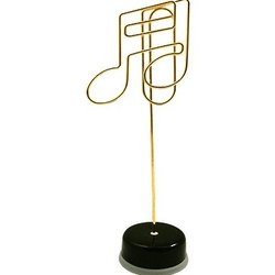 16th Note Paper Clip Stand - Gold with Black Base