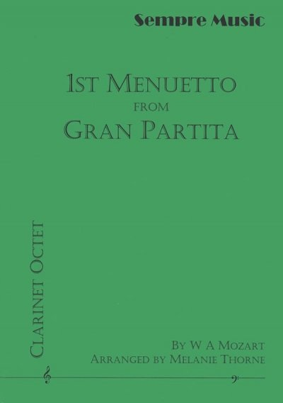 View larger image of 1st Menuetto from Gran Partita (Clarinet Octet)