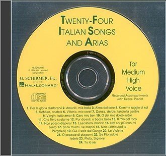 View larger image of 24 Italian Songs & Arias (Of The 17th & 18th Centuries) - Medium High Voice - Accompaniment CD Only
