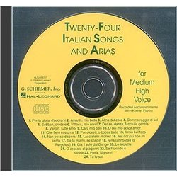 24 Italian Songs & Arias (Of The 17th & 18th Centuries) - Medium High Voice - Accompaniment CD Only