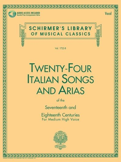 View larger image of 24 Italian Songs & Arias (Of The 17th & 18th Centuries) - Medium High Voice w/Online Audio