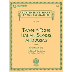 24 Italian Songs & Arias (Of The 17th & 18th Centuries) - Medium High Voice w/Online Audio