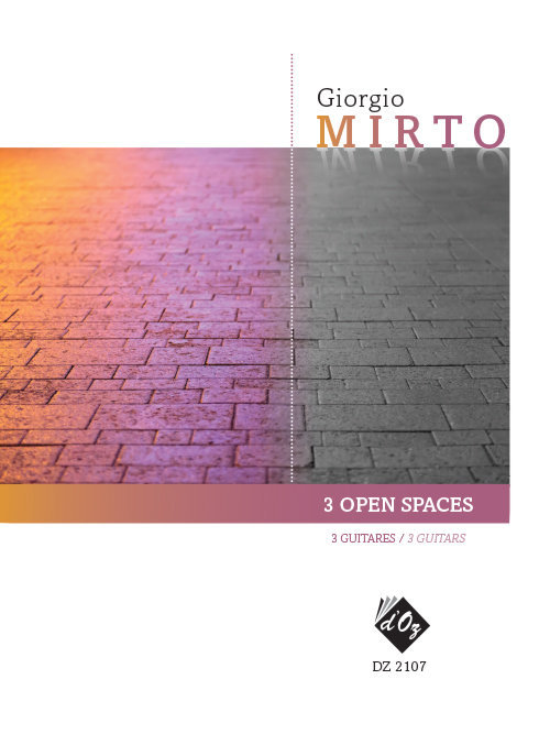 View larger image of 3 Open Spaces - (Mirto) - Guitar Trio