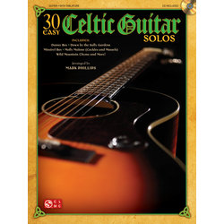 30 Easy Celtic Guitar Solos with CD, (TAB)