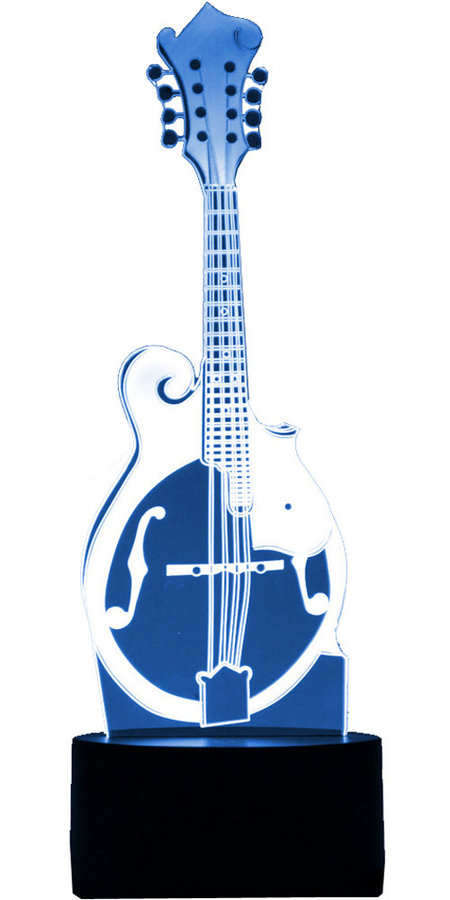 View larger image of 3D Bluegrass Mandolin LED Lamp