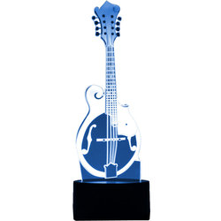 3D Bluegrass Mandolin LED Lamp