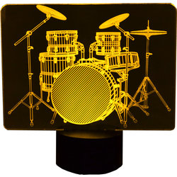 3D Drums LED Lamp