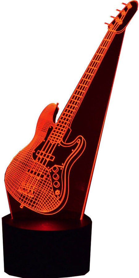 View larger image of 3D Electric Bass LED Lamp
