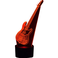 3D Electric Bass LED Lamp