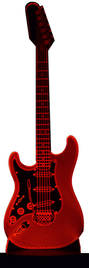 View larger image of 3D Electric Gitar Strat LED Lamp