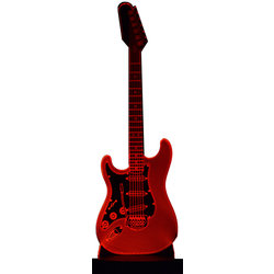 3D Electric Gitar Strat LED Lamp