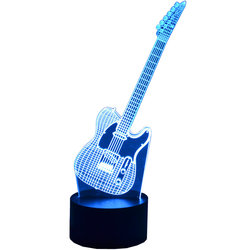 3D Electric Guitar LED Lamp