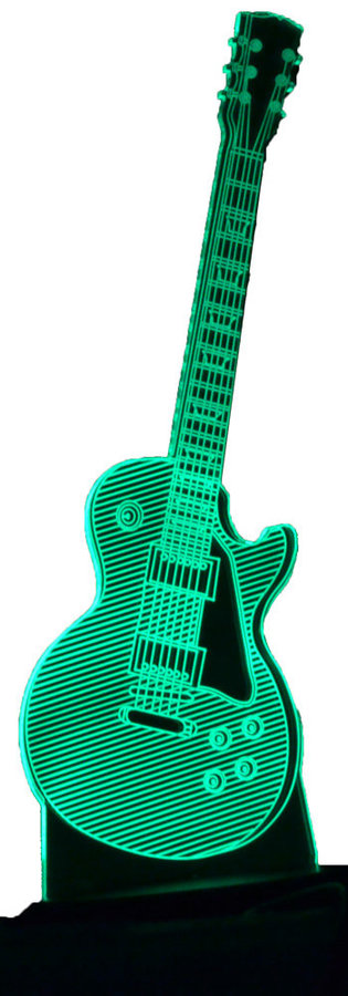 View larger image of 3D Electric Guitar LP LED Lamp