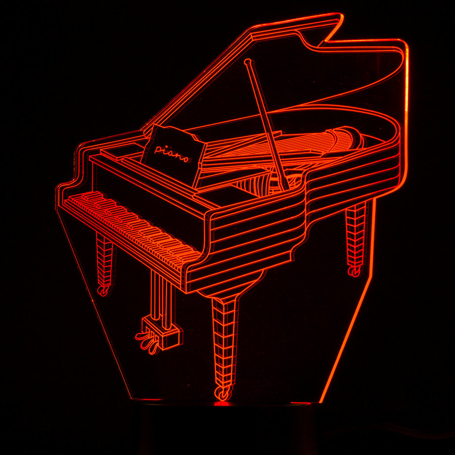 View larger image of 3D Piano LED Lamp