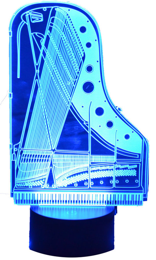 View larger image of 3D Piano Soundboard LED Lamp