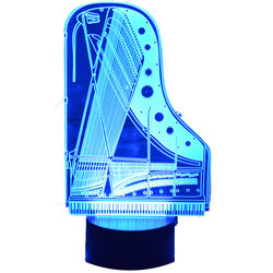 3D Piano Soundboard LED Lamp