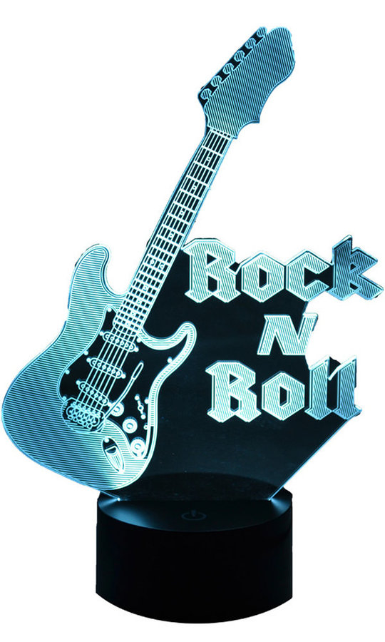 View larger image of 3D Rock N Roll LED Lamp