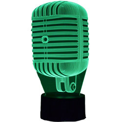 3D Super 55 Microphone LED Lamp