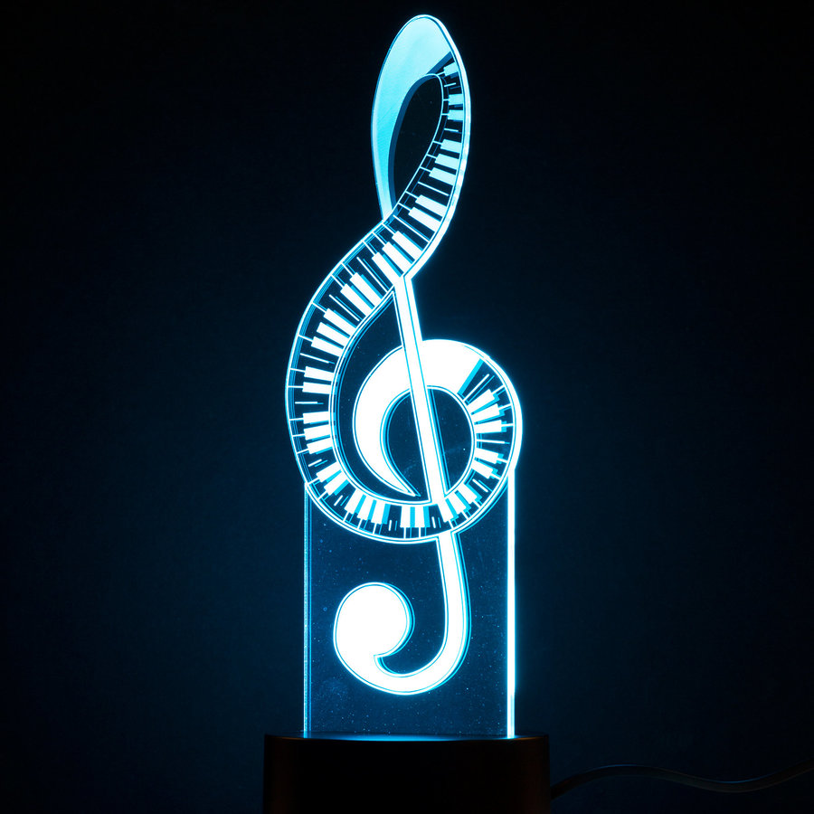 View larger image of 3D Treble Clef LED Lamp
