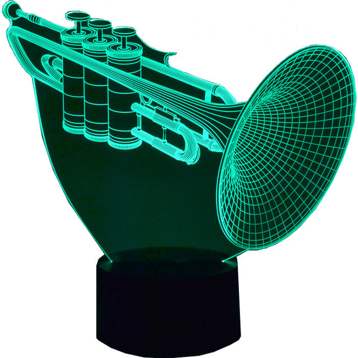 View larger image of 3D Trumpet LED Lamp