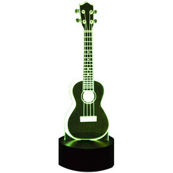 3D Ukulele LED Lamp