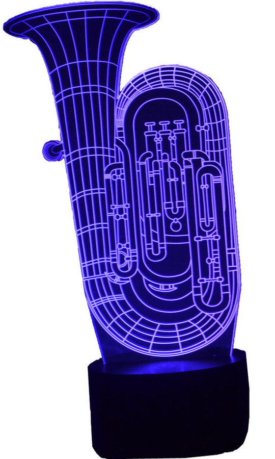 View larger image of 3D Upright Tuba LED Lamp