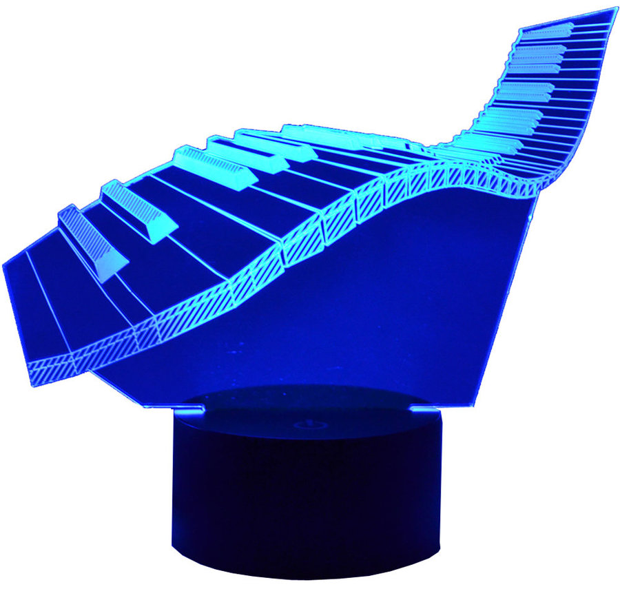 View larger image of 3D Wavy Keyboard LED Lamp