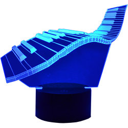 3D Wavy Keyboard LED Lamp