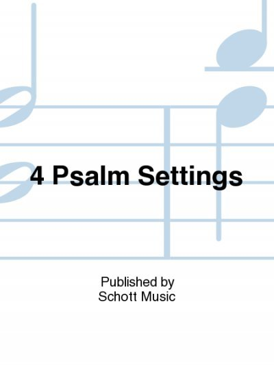 View larger image of 4 Psalm Settings,Unison/2PT Parts (With Orff Instruments)