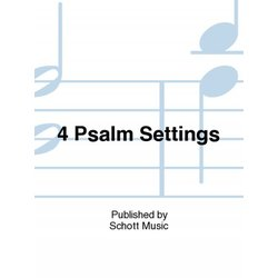 4 Psalm Settings,Unison/2PT Parts (With Orff Instruments)