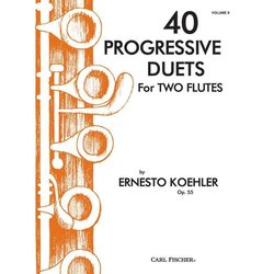 40 Progressive Duets for 2 Flutes Op.55, Vol.2