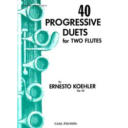 40 Progressive Duets for 2 Flutes Op.55