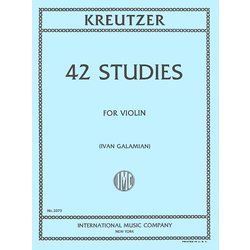 42 Studies for Violin (Kreutzer)