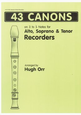 View larger image of 43 Canons for Recorder (easy, alto/soprano/tenor)