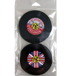 45 Records Coaster Set - 4 Pack
