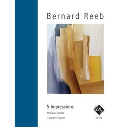 5 Impressions (CD Included) (Reeb) - Guitar Trio