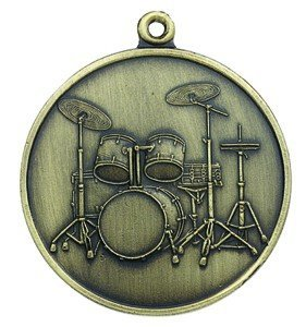 View larger image of 5-Piece Drum Set Keychain - Antiqued Brass