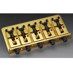 5-String Bass Bridge - Gold